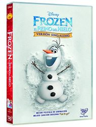 Portada DVD Frozen el reino de hielo Sing Along