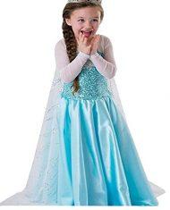 Disfraz largo Elsa con capa