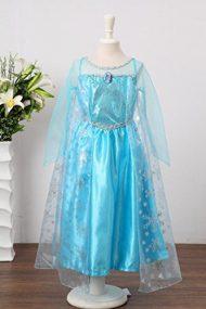 Disfraz Elsa Deluxe con capa delante