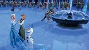 Escena pelicula Frozen se acba encantamiento Arendelle